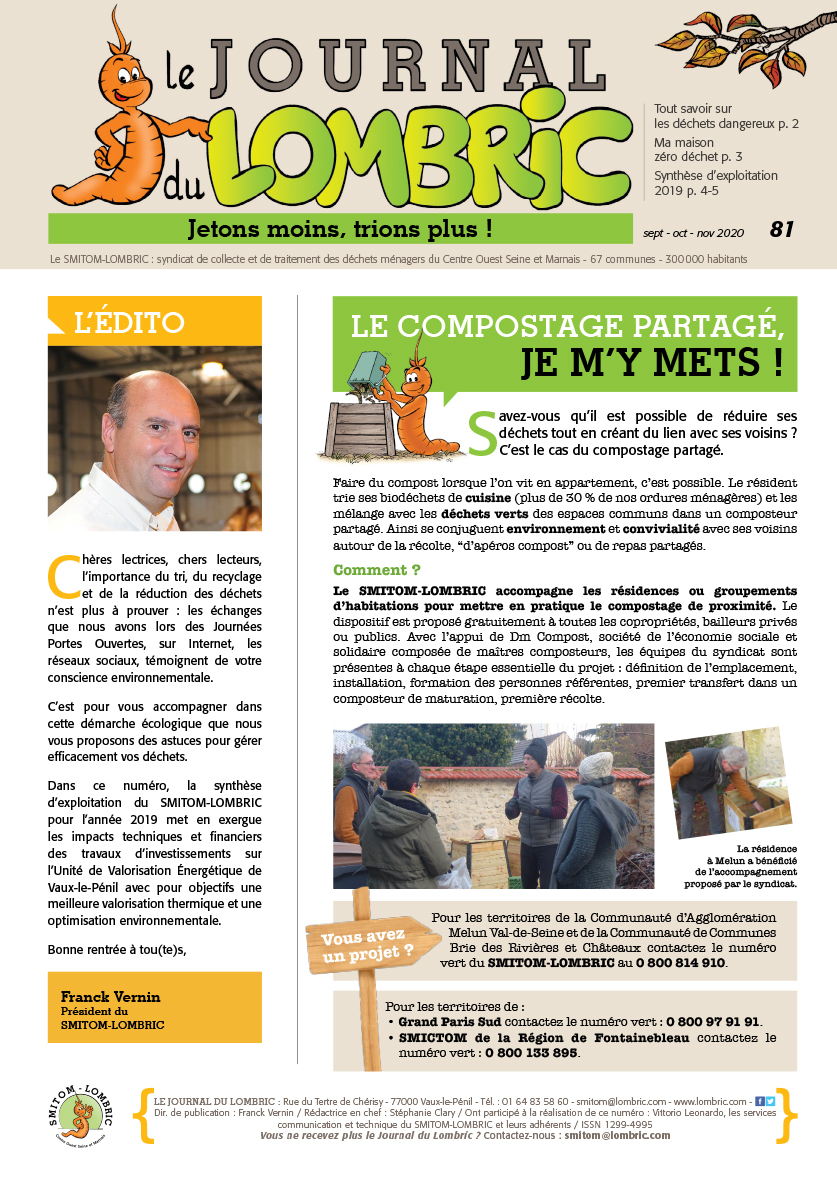 Journal du Lombric n°81 septembre-octobre-novembre 2020