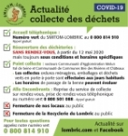 point actualité COVID-19 - SMITOM-LOMBRIC